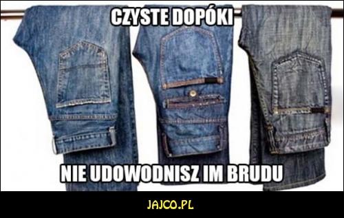 Brudne jeansy?