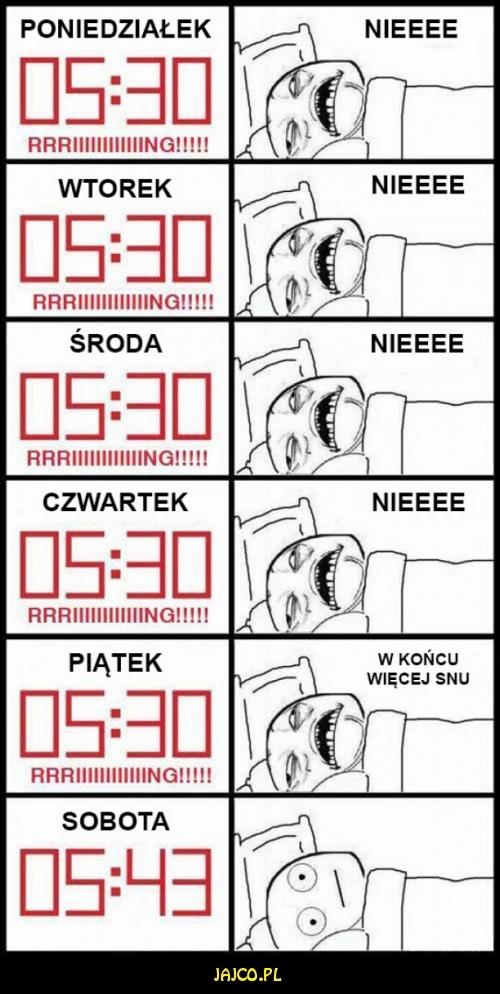 Kiedy chcesz się wyspać