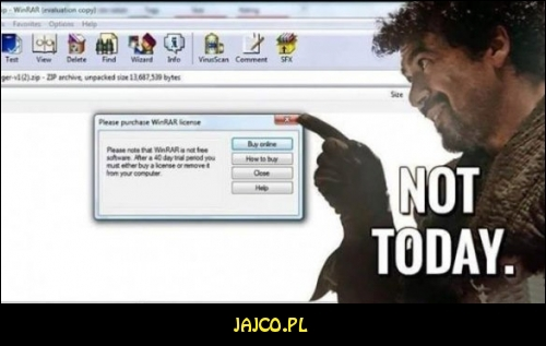 Not today Winrar