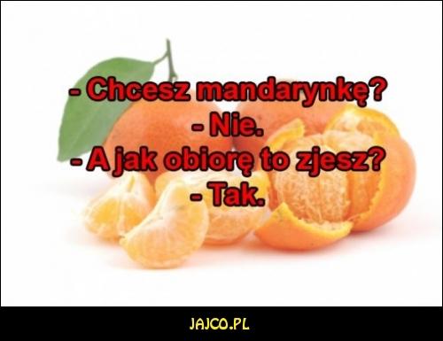 Chcesz mandarynkę?
