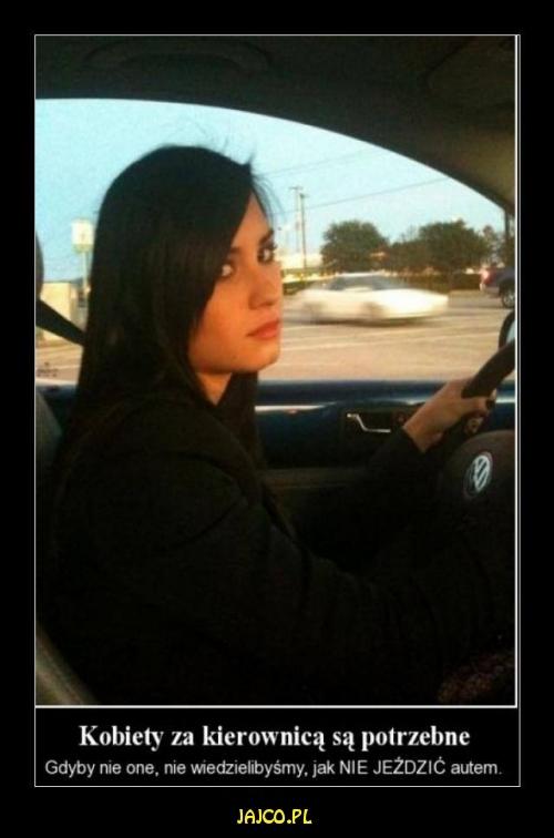 Kobiety za kierownicą sąpotrzebne