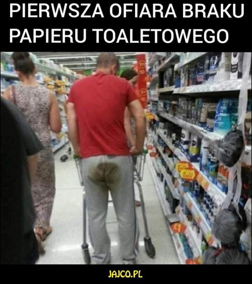 Pierwsza ofiara braku papieru toaletowego